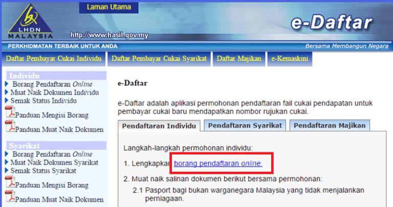 e-daftar e-filing